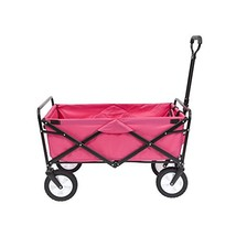 Mac Sports Collapsible Folding Outdoor Utility Wagon, Pink - $130.52