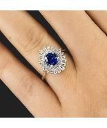 Dolphin Vintage Halo Combination arround Sapphire Simulants Engagement ring - $89.00