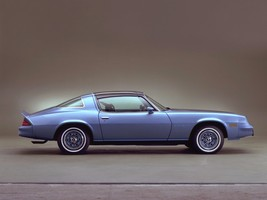 1981 Chevy Camaro Rally Sport in blue | 24 x 36 INCH POSTER | sports car - $18.99