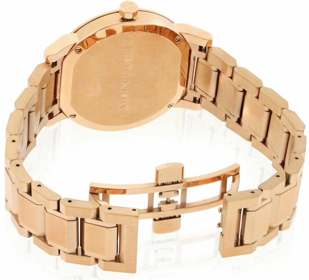 Burberry BU9005 Large Check Rose Gold Swiss Made Womens Watch
