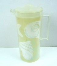 "Vintage Vintage Stotters Pitcher Acrylic Plastic Sea Shells  MCM 11 1/2""... - $21.49"