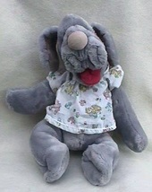 1980s Ganz Wrinkles Dog Hand Puppet - Girl in Dress - $28.00