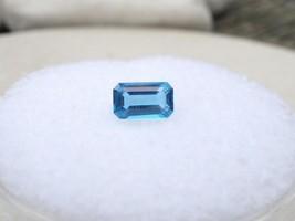0.32 Carat Loose Natural Glacier Blue Topaz Emerald Gem 5 X3 Mm - $5.99