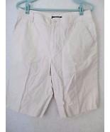 Lauren Ralph Lauren Ivory Beige Zipper Front Bermuda Shorts! Sz 8! 100% ... - $12.55