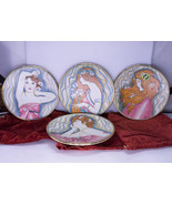 Set Of 4 Vintage Decorative Plates - La Belle Femme Series From Veneto F... - $49.95
