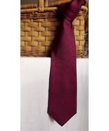 Mens Designer Christian Dior Necktie Burgundy Blue Abstract Geometric Si... - $18.00