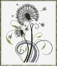 Soffia blowing dandelion cross stitch chart Alessandra Adelaide Needlework - $16.20