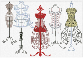 Eleganza  cross stitch chart Alessandra Adelaide Needlework - $16.20