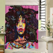 2017 New Different Custom Waterproof Bathroom African Woman Shower Curtain Polye - $33.45