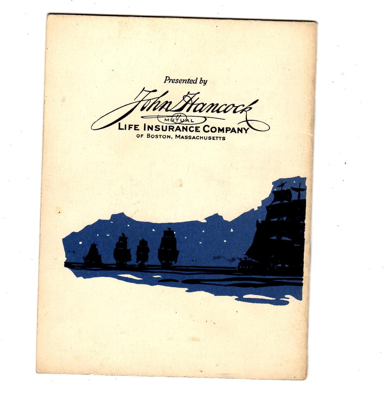 "John Paul Jones "" Founder Of The American Navy"" By John Hancock Mutual Life Ins"