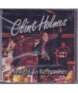 CLINT HOLMES A NIGHT TO REMEMBER CD, New - $12.95