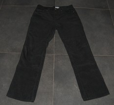 CALVIN KLEIN CK Jeans Women's Black Corduroy Pants Trousers 6/S Stretch - $37.89