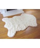 "3'5"" x 4'6"" Faux Sheepskin Rug, Fake Sheep Skin Rug - Ivory.  Non skid b... - $69.00"