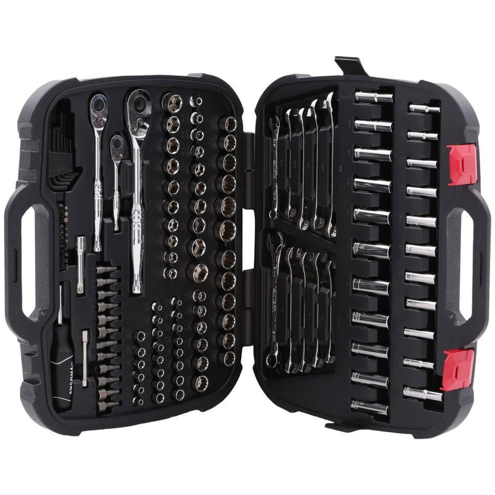 Mechanics Tool Set 134 Piece Socket Ratchets Wrenches Accessories Garage Repair