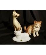 Kitty Cat Lot 3 Norcrest Westmoreland Japan Cute Kitten Porcelain Ceramic - $37.00