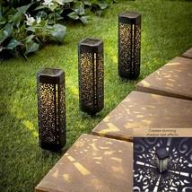 Set of 3 Solar Yard Stakes Lights Shadow Cast Ground Garden Lawn Pathway... - $14.60