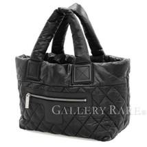 CHANEL Coco Cocoon Reversible Nylon Black Tote Bag Italy Authentic 4688297 - $1,115.70