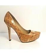 J Renee Women Size 7M Laminated Cork Platform Pumps With W/Pointy Toe Re... - $108.89