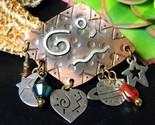 Vintage mixed metal copper silver cobre mexico brooch pin star moon thumb155 crop