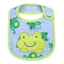 "Lovely Smile Frogs Cotton/PVC Adjustable Waterproof Baby Bib Pocket Bib 612"""