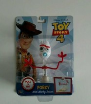 Forky Pull N Go Wacky Action Toy Story 4 2019 Disney Interactive Action Figure  - $20.57