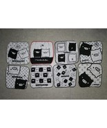 Koro Koro San-X MONOKURO Boo Pig Black White Face Towel Wash Cloth X 8 - $29.99