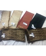 Amana Plaid Wool And Cotton Scarf Lot 6 Scarves - $46.74