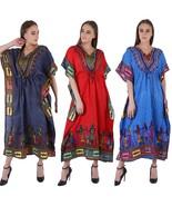 Maxi Dress New Long Kaftan Hippy Boho Women Caftan Top Dress Gown Free Size - $67.49