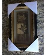 Framed Wall Art Fall Leaves with embossed frame - $14.65
