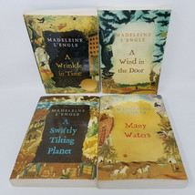 Lot Of 4 Madeleine L'Engle Set 1-4 A WRINKLE IN TIME Softcover Books  - $15.95