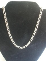 "Classic Style Chain Necklace Silver Plated Metal 18"" long - $14.84"