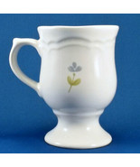 Pfaltzgraff Garland Pedestal Mug 10 oz White with Blue Flowers Stoneware - $8.17