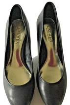 Ralph Lauren Hala Black Leather Classic Pumps Closed Rounded Toe Size 7.5 NWOB - $46.71