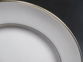 "4 Mikasa Doric Salad Plates 7"" Gold Trim  Bundle of 4 - $20.37"