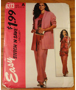 Misses Pants Cardigan Tunic 8 10 12 14 McCall's Pattern 6273 size A  - $4.50