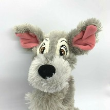 "Disney Parks Lady and the Tramp Plush Gray Dog 10"" Mickey Ribbon Collar - $6.92"