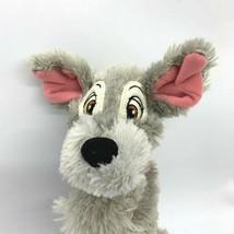 "Disney Parks Lady and the Tramp Plush Gray Dog 10"" Mickey Ribbon Collar - $6.92"