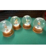 Collectible Set of 4 DISNEY Snowglobes Jimmy Cricket-Goofy-Clarabelle-H... - $22.36