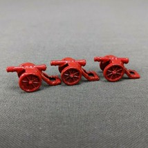 Risk 40th Anniversary Edition Board Game Metal Cannons 3 Pieces Red Army - $6.85