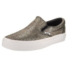 NEW IN BOX VANS Classic Slip On Shoes Metallic Gold Dots sz Womens 8 - $57.92