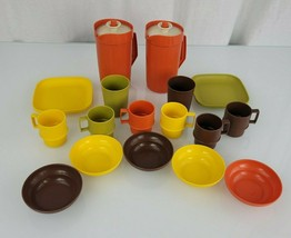 Vintage Tupperware Children's Toy Mini-Party 1979 1980 Pitcher Plate Bowl Mug - $59.39