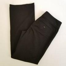 Ann Taylor Loft 6 Dress Pants Black Career Trousers Inseam 32 Welt Pocke... - $15.00