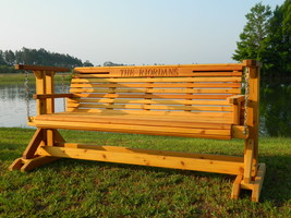 5ft Handmade in USA Cedar Glider, Patio Swing,Porch Swing,Bench,Glider C... - $679.99+