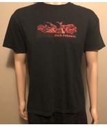 Jack Johnson Band Short Sleeve Shirt Large Men's Unisex Black Red Made I... - $16.44