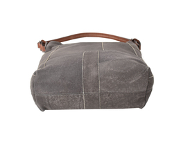 Women's Leather Patchwork Boho Chic Purse Quilted Lined Transport Tote Handbag image 5