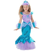 Sparkle Mermaid Halloween Costume w/ Tiara Deluxe Full Outfit Size 5 6 g... - $32.24
