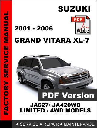 suzuki grand vitara xl7 2001 2002 2003 2004 2005 2006 oem service repair manual other makes suzuki grand vitara manual 2007 suzuki grand vitara manual shifter linkage