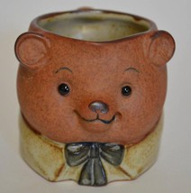 Ceramic Pottery ~ 3D Bear & Bow Tie Creamer - $19.95