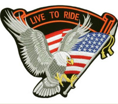 UNITED STATES FLAG SWOOPING EAGLE LIVE TO RIDE ... - $8.82