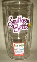 New SOUTHERN BELLE 16 oz TERVIS Tumbler, Insulated Clear Plastic - $15.00